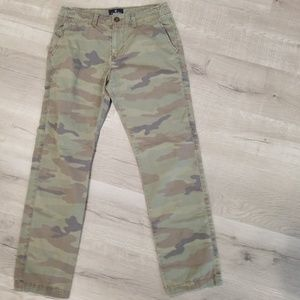 AE slim straight camo pants 30x29
